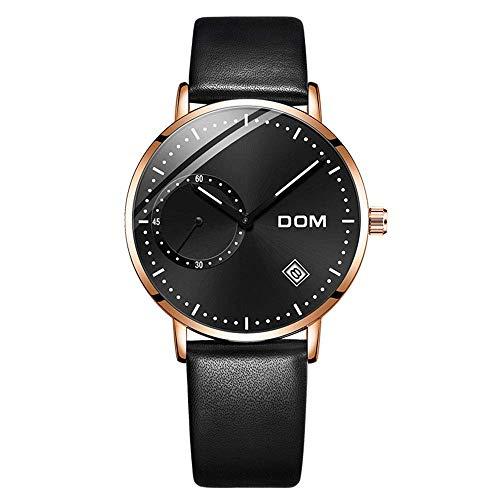 PXX horloges – minimalistische sporthorloges voor heren – roestvrijstalen band waterdicht 30 m met instelbare kalender cinturón de cuero  Blanco Y Gris