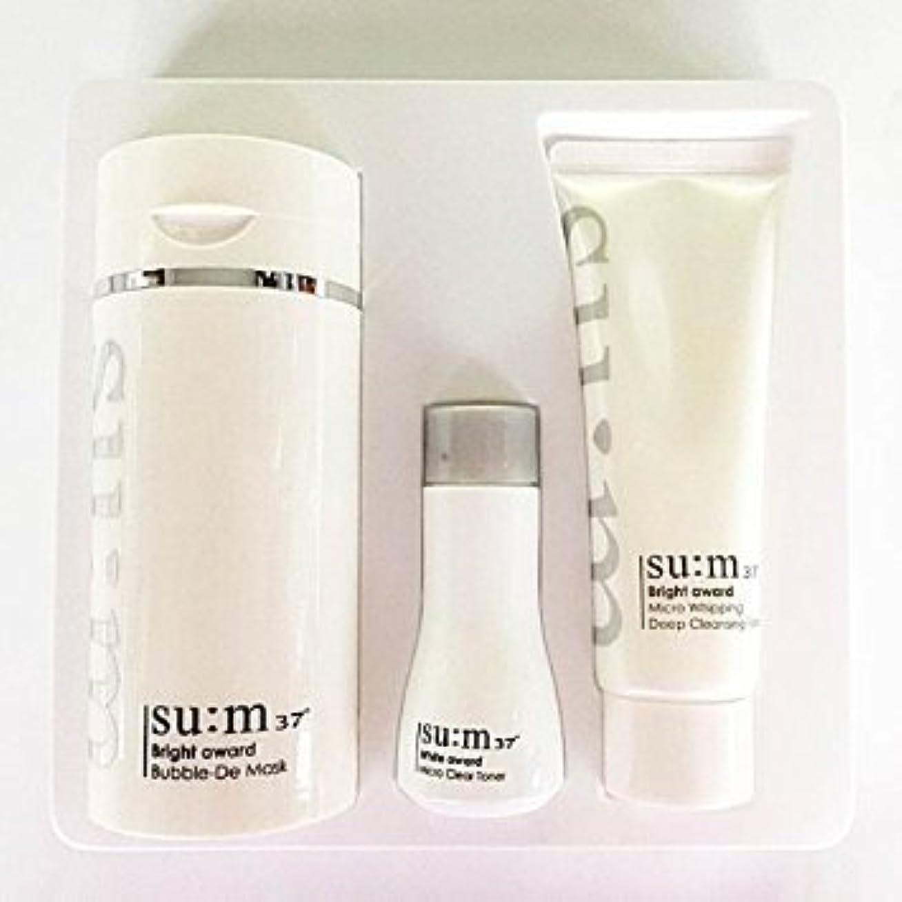伝記スポーツの試合を担当している人コンベンションSu:m37°(スム37) Su:m 37 White Bright Award Bubble-De Mask Special Set 企画セット [並行輸入品]