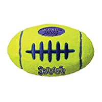 Fetch toy for healthy, active play Non-abrasive KONG Tennis material, softer on teeth Squeaker entices play Available in three sizes: S, M and L