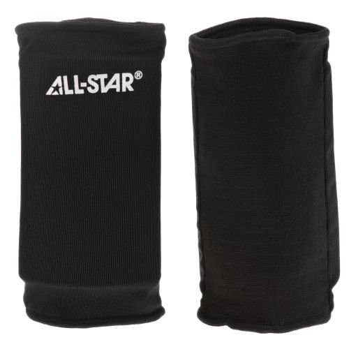 Multipurpose Flexibility Pair of 2 Elbow Pads (All Sports: Football, Lacrosse, Hockey, Volleyball, etc) (Black, Youth)