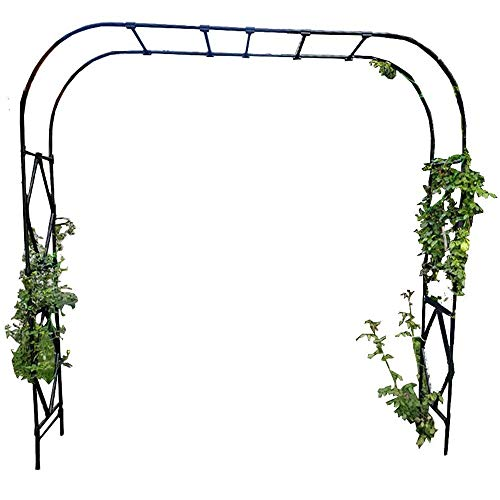 COFFEE CAT Oversized,Garden Arch,Rust and corrosion resistant Garden Arbor,Thickened steel pipe,Perfect garden decoration,Wedding Arch Party Ceremony Decoration Climbing Plant Support Trellis Arch.