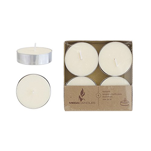 Mega Candles 12 pcs Unscented Ivory Oversize Tea Lights Candle, Pressed Wax Candles 12 Hour Burn Time, Home Décor, Wedding Receptions, Baby Showers, Birthdays, Celebrations, Party Favors & More