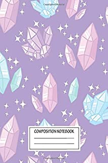 Notebook: Magical Crystals Purple , Journal for Writing, Size 6