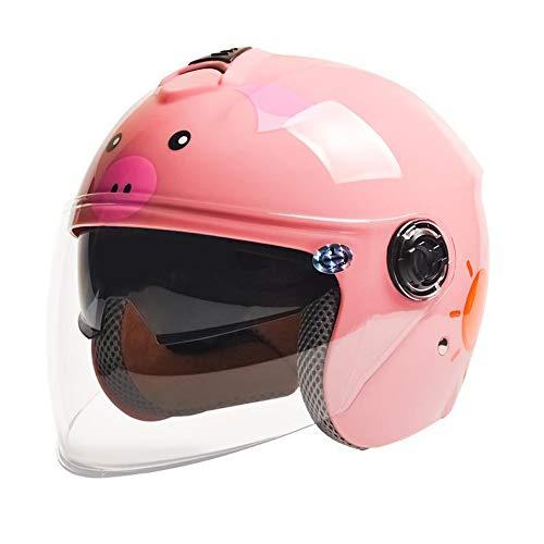 LGF Helmet Vier Saisons Sicherheit Persönlichkeit Kinderhelm Reiten Skateboard Rollschuh Kinderhelm-Straße-Sport-Schutzausrüstung schöne Cartoon Kinderhelm rosa