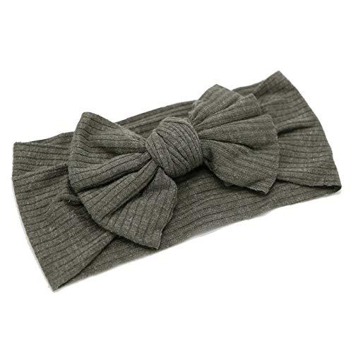 Hairband Enfants Élastique Bowknot Rayé Tissu Bijoux Mignon Large-brimmed Bowknot Bandeau Cheveux Accessoires (6pcs)