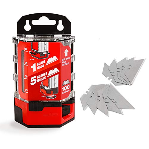 Goldblatt 100-Pack Utility Blades Premium Tempered SK2M Steel with Dispenser (G08283)
