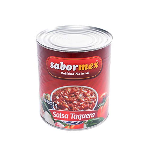 SABORMEX Salsa Mexicana Taquera 2,8 kg Salsa típica de la Comida Mexicana Salsa Picante para acompañar tacos