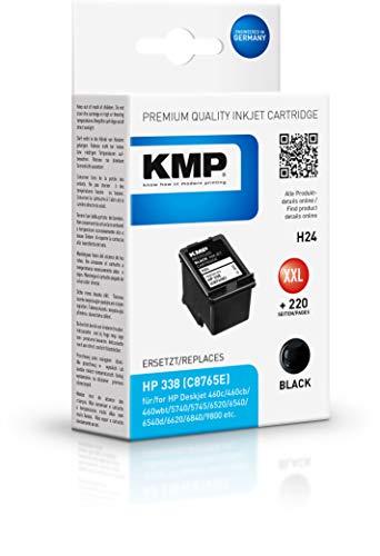 KMP Druckerkartusche für HP Deskjet 6540 Schwarz - Kompatibel - Tintenpatrone für HP 338 - Office Druckerzubehör