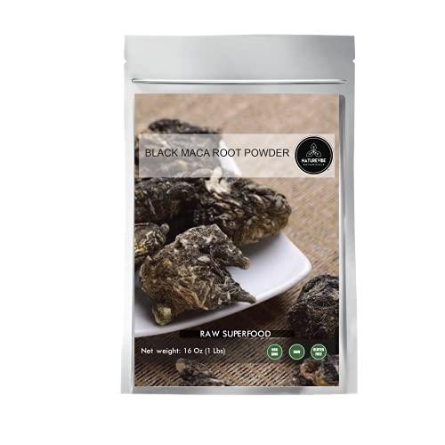 Naturevibe Botanicals Black Maca Powder 1lb - Lepidium Meyenii | Raw (16 Ounces)