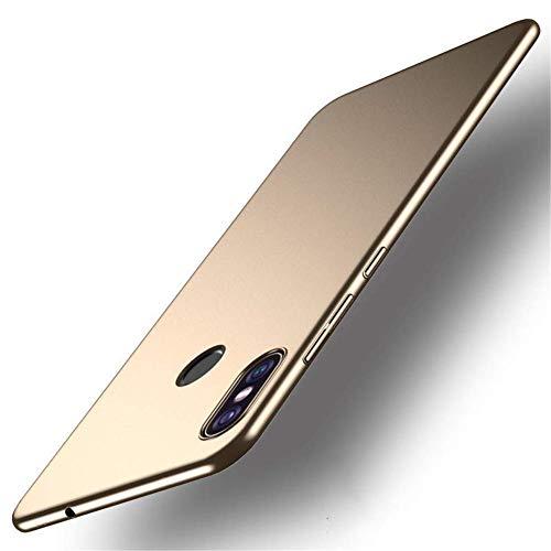 """XMTN Xiaomi Mi MAX 3 6.99"""" Funda, Cubierta Delgado Caso de PC Hard Gel Funda Protective Case Cover para Xiaomi Mi MAX 3 Smartphone (Oro)"""