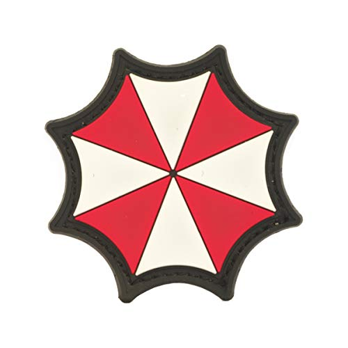 Cobra Tactical Solutions Umbrella Corporation Logo Resident Evil Film PVC parche con velcro para Airsoft Cosplay Paintball para ropa tctica mochila