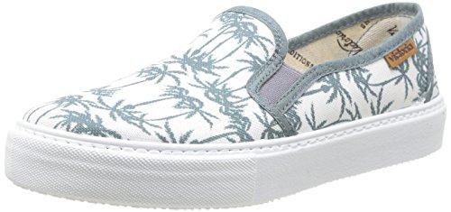 Calego Slip On Estamp Tropicales - Zapatos, Unisex, Color Multicolore (Petroleo), Talla 36