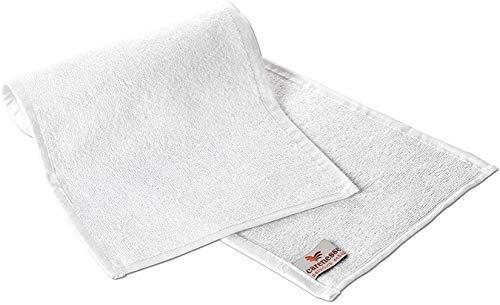 Carenesse Rasiertuch 2er Pack, 22 x 70 cm, 100% Baumwolle, weiß, Handtuch für Rasur, Rasier-Handtuch, Rasurvorbereitung wie beim Barbier