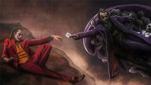 Joker DC Card Kit de pintura de diamantes 5D,DIY 5D Diamond painting diamantes de imitación de cristal, bordado de punto de cruz,para decoración de pared, (H-40 cm x M/B-60 cm)