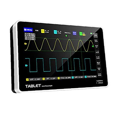 Handheld Digital Tablet Osciloscope Touch Pantalla táctil Osciloscopio Host Mini Osciloscopio Portátil con 2 canales LCD Pantalla táctil Negro