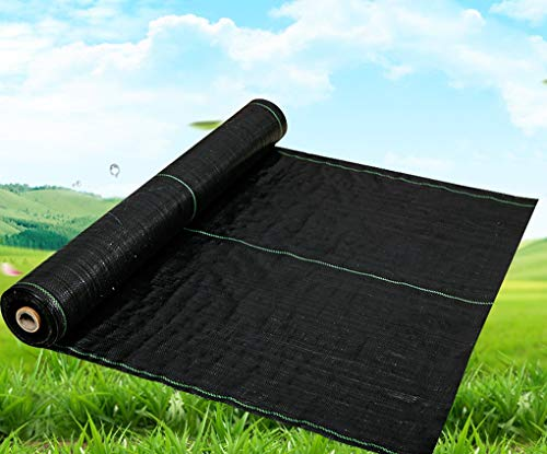 RSH Weed Control Membrane Fabric Black Landscape Ground Cover Membrane Heavy Duty Membrane Ground Sheet Cover Decking Landscaping Comes With 100 Nails (Size : 0.5 * 10m)