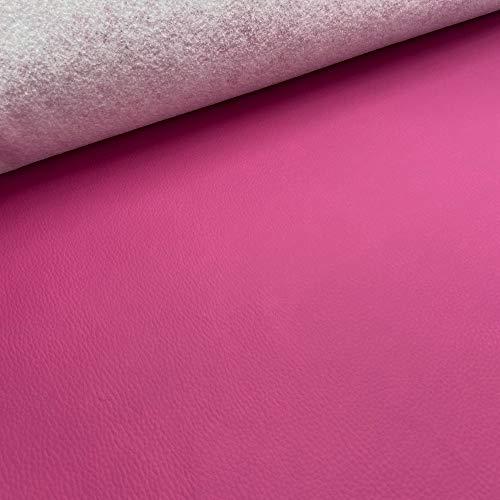 Kt KILOtela Tela de Polipiel para tapizar, Cojines, sillas, Asientos, Muebles - Tapicería skay - Retal de 50 cm Largo x 140 cm Ancho | Fucsia