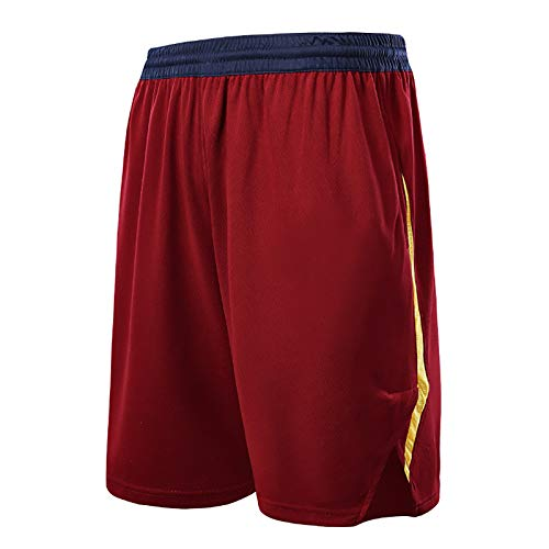 NIUPUPU Pantaloncini da Basket da Uomo NBA Cleveland Cavaliers Fitness Pantaloncini da Corsa Palestra Abbigliamento Casual Pantaloncini da Allenamento XXS-5XL