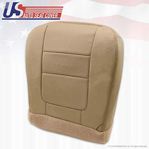 2001 Compatible with Ford F250 F350 Lariat Driver Bottom Leather Seat Cover Parchment TAN 8H 4H