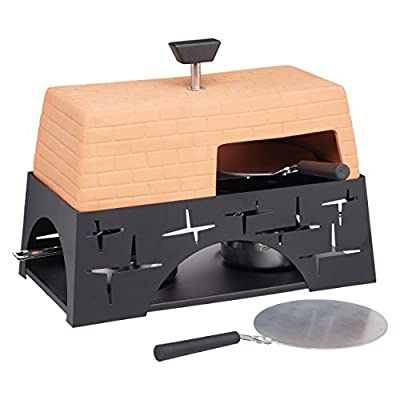 Artesà Table Top Pizza Oven in Gift Box, Terracotta, 28 x 15 x 22 cm from Kitchen Craft