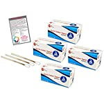 """400 Sterile 6"""" Cotton Tip Applicator 2 Boxes of 100 Packs of 2 - Plus Vakly First Aid Kit Guide 11 Kit contains top selling Cotton Tipped Applicators (4305) plus 1 Vakly How Are You Feeling Sticker Sterile applicators are packaged in packs od 2 with convenient peel-down pouches Cotton tipped applicator sticks (wooden) and tips are manufactured to uniform length and shape"""