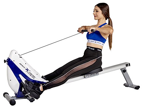 Body Xtreme Fitness ~ Tri-Base Heavy Duty Rowing Machine, Home Exercise Equipment, Fitness, Lose Weight, Training, Arm Workout + Bonus Cooling Towel