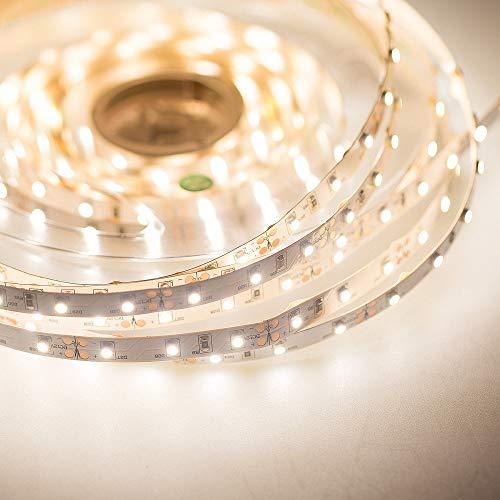 Mextronic Tira LED de 24 V/24 W, IP20, 4000 K, 5 m, regulable, 3528 (blanco neutro)