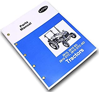 Long 2610, 2610Sd, 2610Dtc, 2610Dtc-Sd Tractor Parts Catalog Manual Book Numbers
