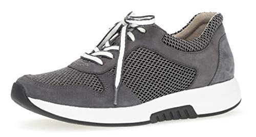 Gabor 26.946 Damen Sneaker,Low-Top Sneaker, Frauen,Halbschuh,Sportschuh,Schnürschuh,atmungsaktiv,Optifit- Wechselfußbett,Grey/River,5 UK