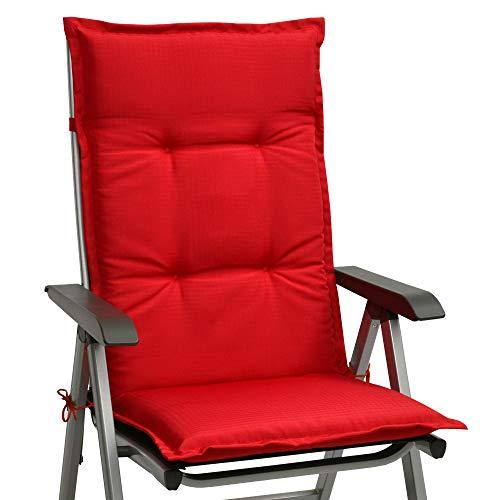 Beautissu cojín para sillas de Exterior, tumbonas, mecedoras o Asientos con Respaldo Alto Base HL...