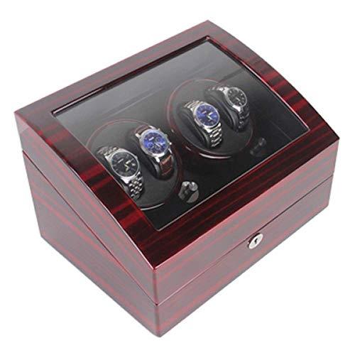 FFAN Soporte de exhibición de Relojes automáticos de Piel Watchwinder 4 + 6 Tazas giratorias Caja de bobinado de Reloj Función de Temporizador Protección Nice Family
