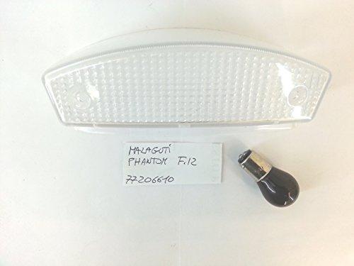 VETRO STOP TRASPARENTE FANALE POSTERIORE MALAGUTI F12 - CON LAMPADINA