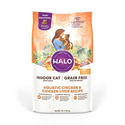 Halo Dry Cat Food, Indoor Cat Food, Grain Free,...