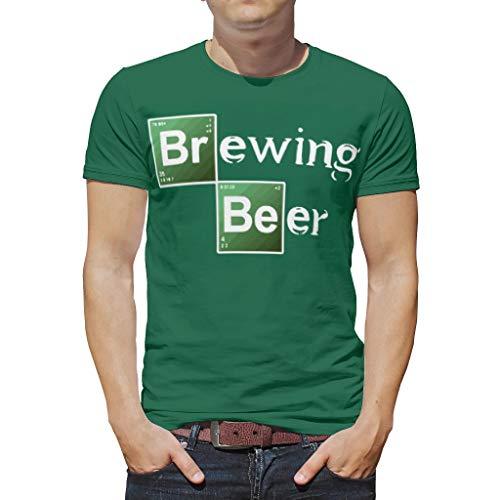XHJQ88 Brouwen Bier Patroon Prints Mannen T-Shirts Unisex Draag Slim Top