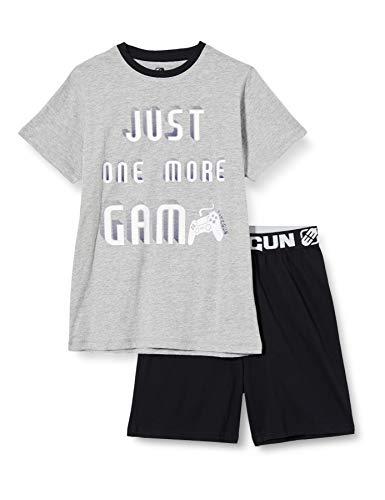 Freegun EG.FGSTART.PSH2.MZ Juego de Pijama, Gris Chine/Noir, 10 años para Niñas