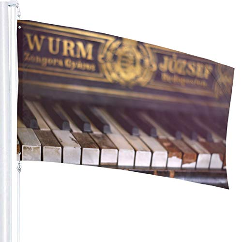 N/A Oude Piano Vlag Premium Polyester Decoratie Vlag 5ft x 3ft