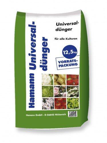 Universaldünger 12,5 kg Sack - organisch-mineralischer Volldünger für Gemüse, Obst, Blumen und Zierpflanzen