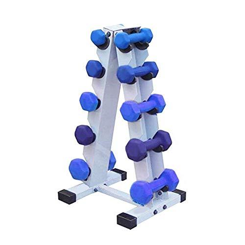 PUTAOYOU Dumbbell Rack Heavy Duty 5 Nivel de mancuerna Soporte de pesas Premium ABS PLÁSTICO PEZ PANTALLA Soporte de soporte de pesas de plástico, gimnasio en el hogar Torre de peso, Mancuernas Organi