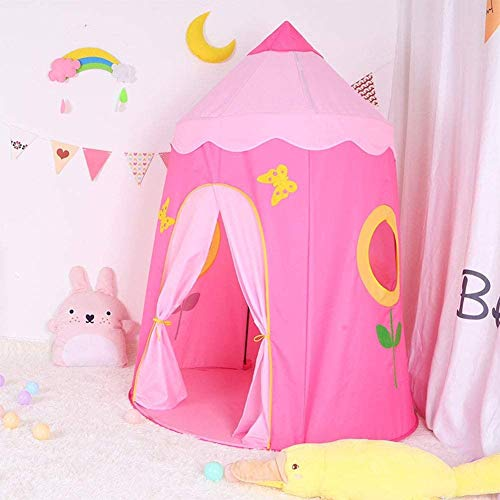 DXQDXQ Tent Prince or Princess Palace Castle Sunflower Children kids Play Tent House Indoor or Outdoor Garden Toy House Playhouse Beach Sun Tent Boys Girls Quick Assemble Portable