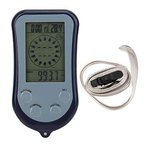 Zhivafip Medidor de Viento de Flujo de Aire Medidor de altitud portátil Termómetro LCD Digital Medidor de Viento de Flujo de Aire de Mano Medidor de altitud electrónico Pequeño para montañismo,