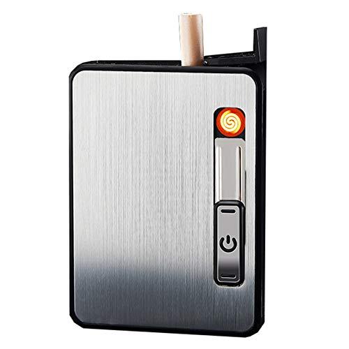 Caja De Cigarrillos Con Mechero De Metal Que Contiene Un Paquete Normal...