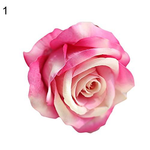 xMxDESiZ - 5 rosas artificiales para jardín, decoración de fiestas, bodas, festivales rosa claro