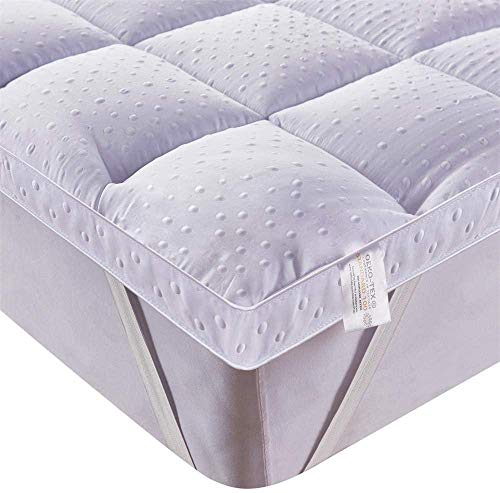 Bedecor Ultra Soft Matratzenauflage, Anti-Slip Down Alternative Matratze Pad, Luxus-3D-Massage Bubbbles Abdeckung, 150 x 200 cm