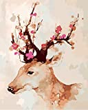 DIY Adulto Niño Principiante Pintura Cabeza de ciervo Sika - 5D Diamante Painting taladro completo Resina bordado arte Mosaico Manualidades decoración hogar Regalo 30x40cm