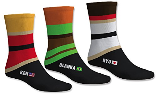 Official Capcom Street Fighter Socks - 3 Pairs [import anglais]