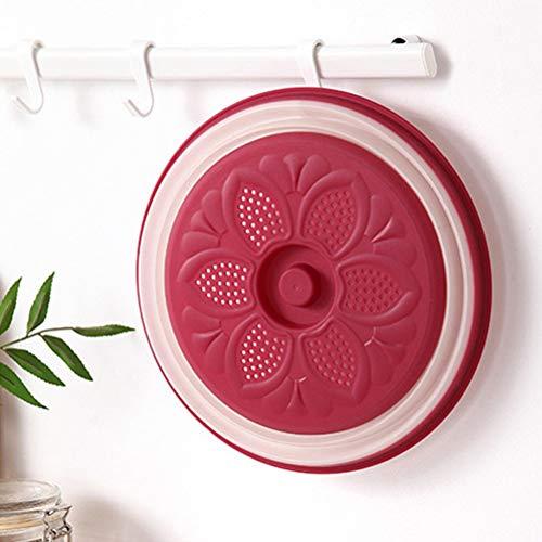 Faviye Tapa de microondas Tapa de Drenaje de Tapa de microondas Plegable para Frutas y Verduras
