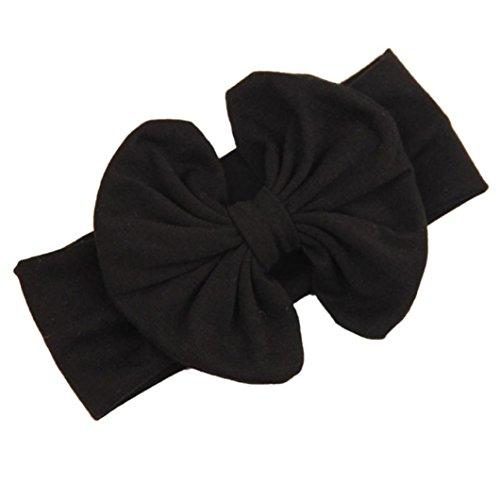 Fulltime(TM) Grande Bowknot Filles Bébés Coton Bandeau Tête Enfants Enroule Cheveux Accessoires