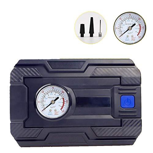 QMMB Pneumatico Inflator, Compressore Portatile, Inflazione Veloce 12V 120W con Arresto Automatico Luce LED, Adatto per Auto, Biciclette, Motocicli,Pointer,100PSI