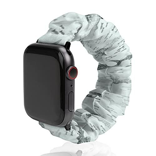 Correa de repuesto para hombre y mujer, compatible con Apple Watch de 42 mm/44 mm, suave, elástica y elástica para iWatch Series SE 6/5/4/3/2/1, Whale Shark Whimsy