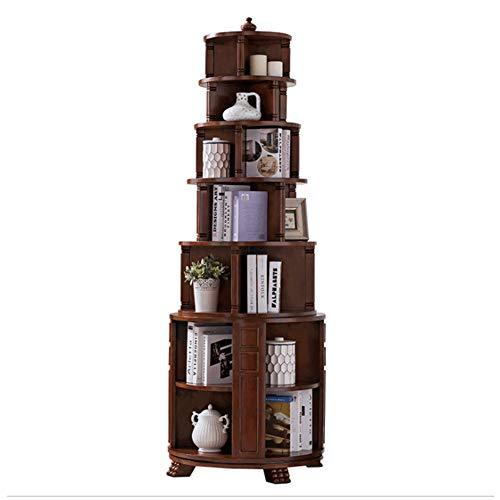 Meubelen 360 ° Rotating Multifunctionele Bookshelf Huiskamer Bekleding Boekenkast Boekenkast,3